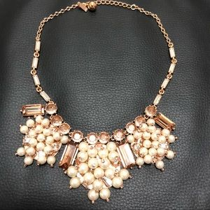 Kate Spade Clink Clink Statement Necklace Pearls